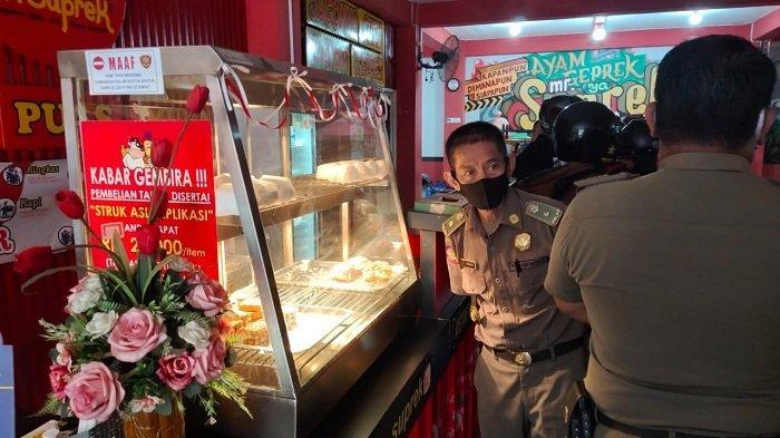 Razia Warung Sakadup, Satpol PP Banjarmasin Sisir Jalan Pramuka dan Cendana