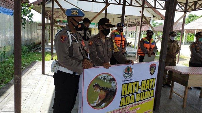 Ini Salah Satu Aktivitas di Bantaran Sungai Mentaya Kotim yang Memicu Serangan Buaya