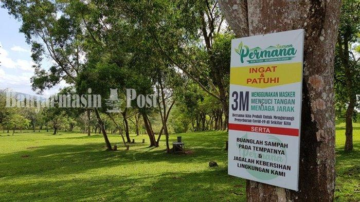 Wisata Kalsel,Pengunjung Kadang Nginap Dirikan Kemah di Taman Permana Pelaihari