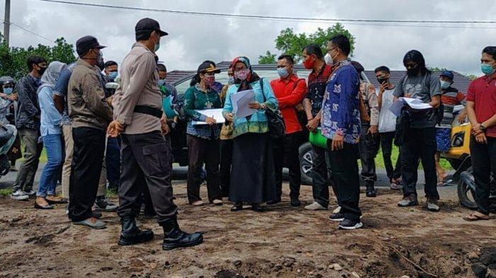 Personel Polresta Amankan Pengecekan Lahan Sengketa di Jalan Hiu Putih Palangkaraya