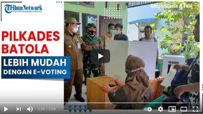 Pilkades dengan E-voting di Batola dirasakan lebih mudah.