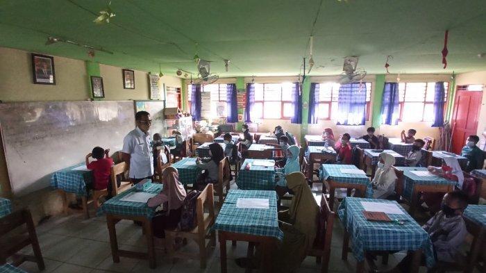 Digelar Secara Tatap Muka, Siswa Antusias Ikuti Ulangan Kenaikan Kelas Tingkat SD di Balangan