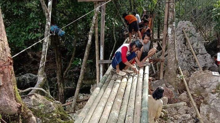 Terdampak Banjir, Wisata Pemandian Batu Badinding Balangan Ditutup Sementara Selama Perbaikan