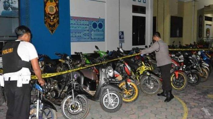 Polres Barito Selatan Kalteng Amankan 31 Sepeda Motor Pembalap Liar yang Sering Resahkan Warga