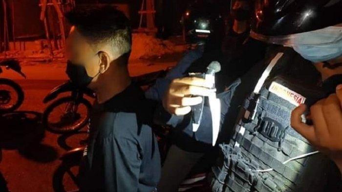 Bawa Senjata Tajam, Pria Mabuk di Palangkaraya KaltengDiamankan Polisi