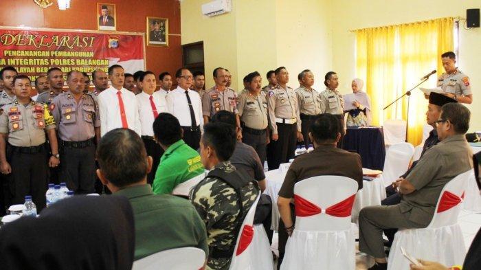 Bupati Balangan Dukung dan Beri Apresiasi Deklarasi Zona Integritas di Polres Balangan