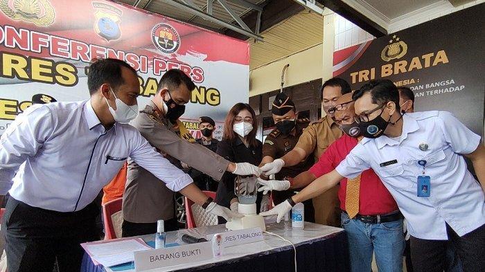 Pemusnahan Narkoba di Polres Tabalong, 21,36 Gram Sabu Diblender Lalu Dibuang ke Septic Tank