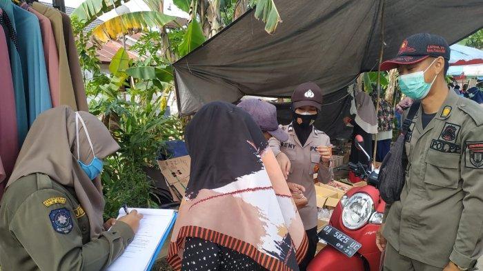 Operasi Yustisi Protokol Kesehatan di Pasar Jangkung Tabalong, Lima Warga Kedapatan tak Bermasker