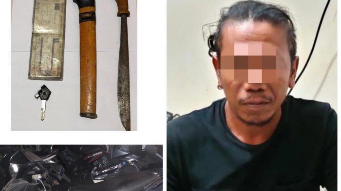Simpan Parang di Jok Motor, Pria di Tabalong ini tak Berkutik Diamankan Polisi