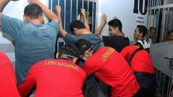 Polsek, Polres dan BNNP Kota Banjarbaru Lakukan Sidak Gabungan di Lapas Banjarbaru, Ini Hasilnya