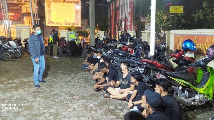 Pelaku Balapan Motor di Jalan Raya Diamankan Polsekta Banjarmasin Timur Kalsel