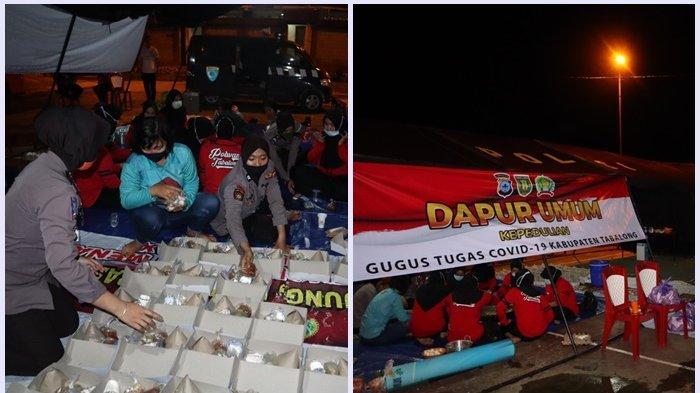 Polwan di Polres Tabalong menyiapkan 500 bungkus makanan sahur untuk warga terdampak Covid-19.