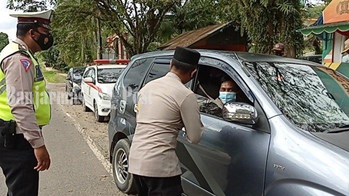 Ratusan Kendaraan Putar Balik di Pos Cek Poin Kabupaten Tabalong Batas Kalsel-Kaltim