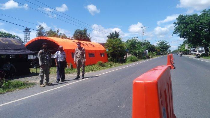 Pembatasan Masuk Kalsel Diberlakukan, Petugas Dirikan Pos di Anjir Pasar Batola