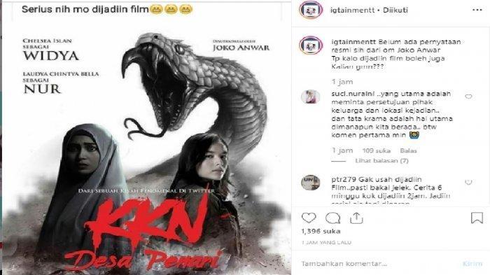 Raditya Dika Sampai Begini, Poster Film Horor KKN di Desa Penari Beredar, Bakal Tayang di Bioskop?