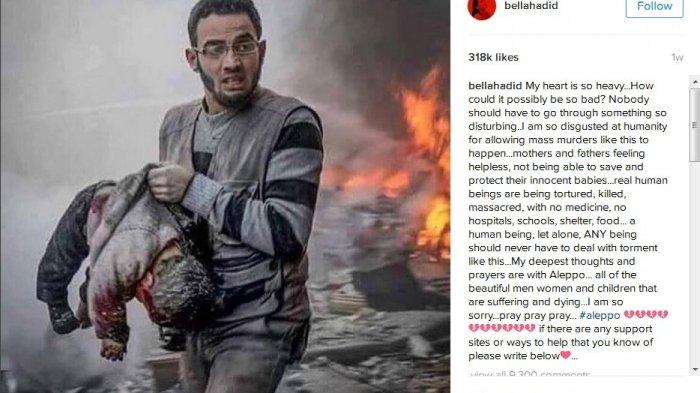 Postingan Kakak Gigi Hadid Tentang Aleppo Menggemparkan Media Sosial