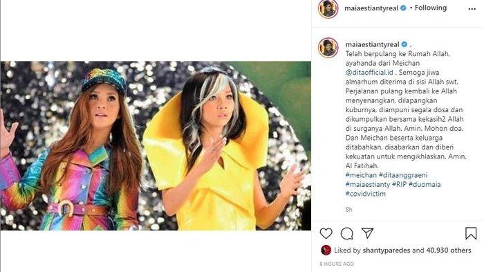 Postingan Maia Estianty terkait Mey Chan