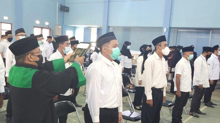 Persiapan PSU Pilgub Kalsel 2020, KPU Banjarmasin Melantik Puluhan PPK dan PPS