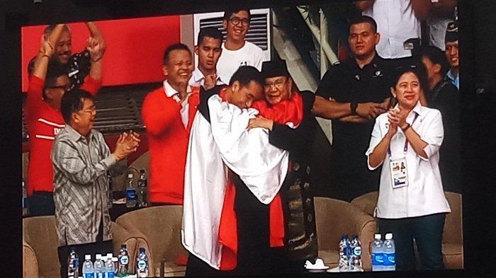Cara Gerindra dan Relawan Jokowi Memaknai Pelukan Joko Widodo-Prabowo untuk Pilpres 2019
