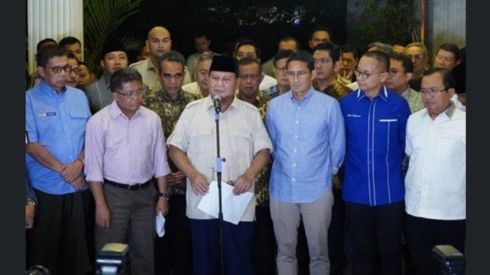 Tentukan Langkah Selanjutnya, Prabowo Akan Kumpulkan Pimpinan Partai Koalisi di Kertanegara Jumat