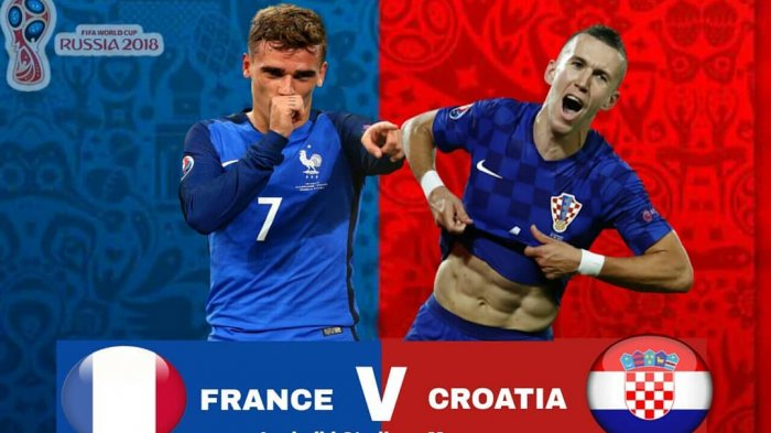 Prediksi & Cara Nonton Live Streaming Prancis vs Kroasia Final Piala Dunia 2018, Live Trans TV