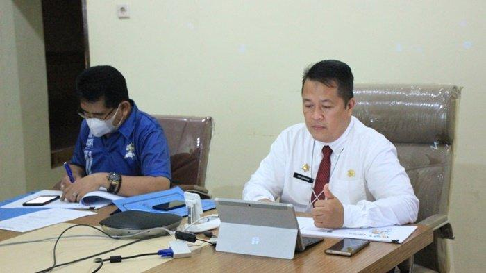 Presentasi Diklat dilaksanakan Kepala Diskominfo Kabupaten Hulu Sungai Utara (HSU), H Adi Lesmana.