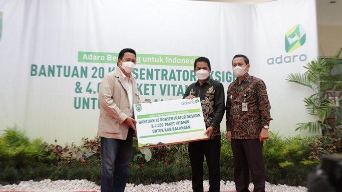 Adaro Serahkan Bantuan 20 Konsentrator Oksigen dan 4.000 Paket Vitamin untuk Kabupaten Balangan