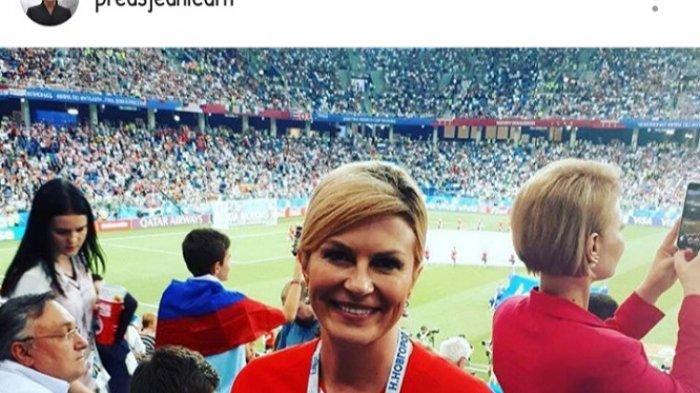 Janji dan Pesan Kolinda Grabar-Kitarovic Jelang Prancis vs Kroasia di Final Piala Dunia 2018