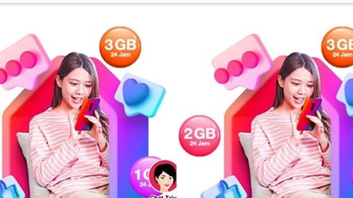 Paket Internet Murah Tri, Ada Promo Kuota 3 GB Setiap Pembelian Bundling Isi Pulsa Minimal Rp 50.000