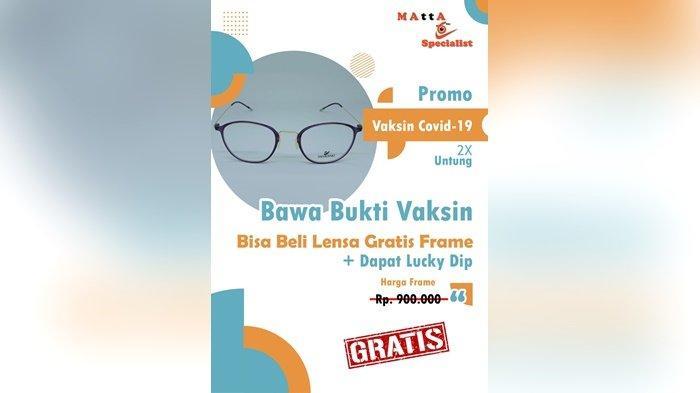Promo Matta Specialist Bagi Masyarakat yang Divaksin, Gratis Frame Ditambah Dapat Lucky Dip