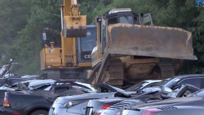Polda Metro Jaya Hancurkan 30 dari 76 Kendaraan yang Sudah Diblokir, Lalu Kendaraan Lainnya?