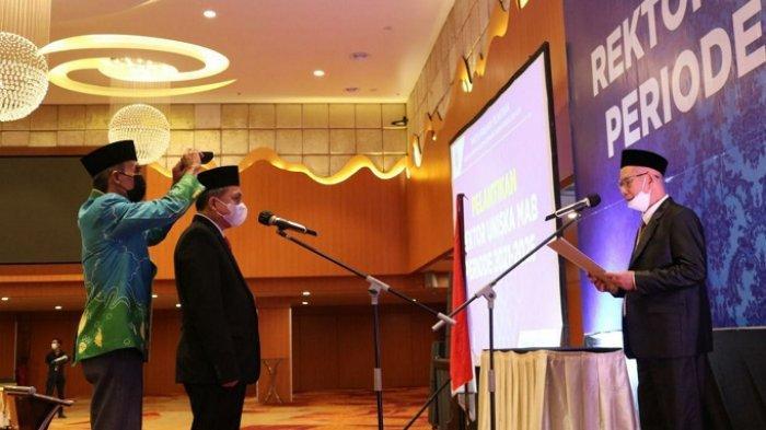 Pelantikan Rektor UNISKA 2021-2025, Abdul Malik Prioritaskan Pembangunan SDM