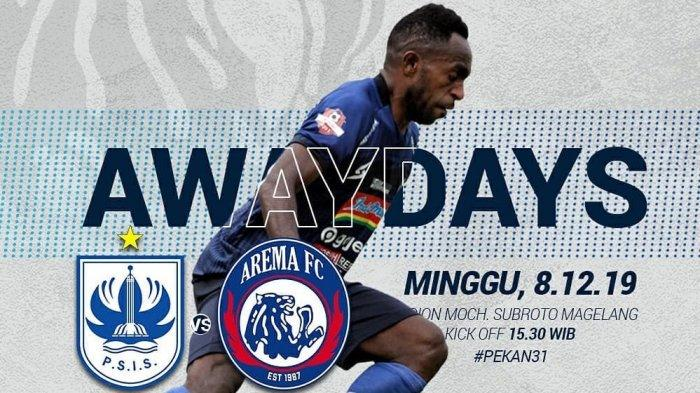 LINK Streaming Online PSIS vs Arema FC Live Usee TV & O Channel Liga 1 2019 Pekan 31 Sore Ini