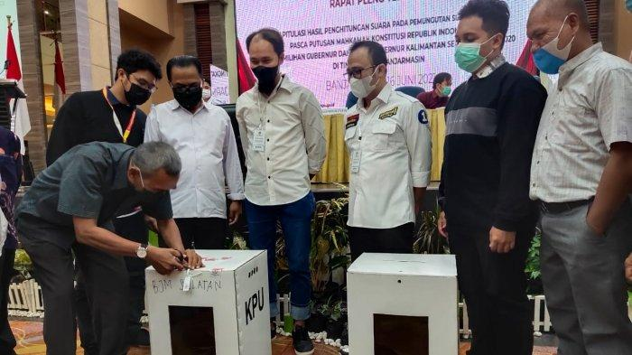 Saksi H2D Enggan Tandatangani Berita Acara Rapat Pleno Rekapitulasi di Tingkat Kota Banjarmasin