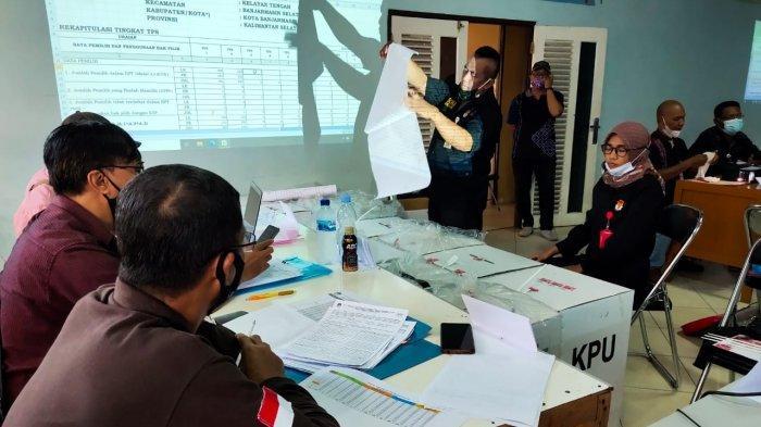 PSU Pilgub Kalsel 2020, Rekapitulasi Surat Suara di Banjarmasin Selatan Hingga Pukul 24.00 Wita