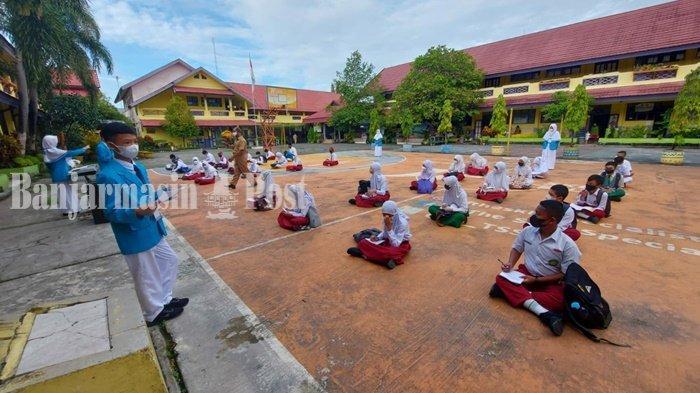 PTM Terbatas di Banjarmasin, Dua Siswa SMPN 2 Tak Masuk karena Tinggal di Zona Oranye