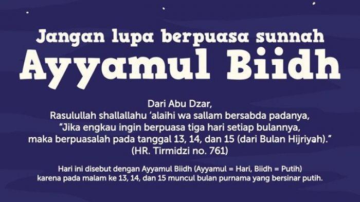 Niat Buka Puasa Ayyamul Bidh Safar 1443 H, Berikut Kemuliaan Puasa 3 Hari di Pertengahan Bulan