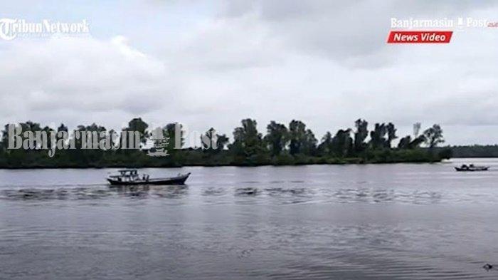 Pulau Hanaut, perairan Sungai Mentaya, kawasan sering terlihat buaya oleh warga Kabupaten Kotawaringin Timur (Kotim), Provinsi Kalimantan Tengah.
