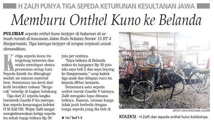 Nekad Berburu Onthel ke Belanda, H Zalfi Punya Tiga Sepeda Keturunan Kesultanan Jawa
