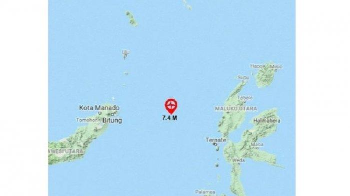 TSUNAMI Terjadi di Bitung dan Ternate Serta 19 Gempa Susulan Pasca-gempa Magnitudo 7,1