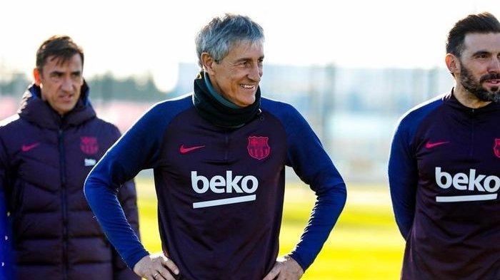 Barcelona Vs Atletico Madrid, Laga Penentuan Nasib Setien