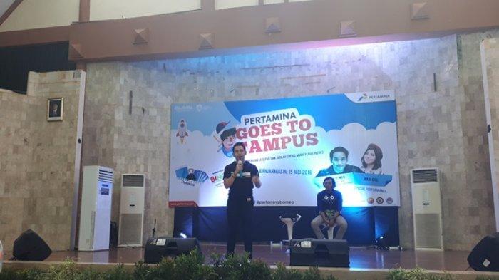 Raja Cendol Buka Rahasia Suksesnya di Depan Mahasiswa Dalam Pertamina Goes to Campus 2018 Poliban