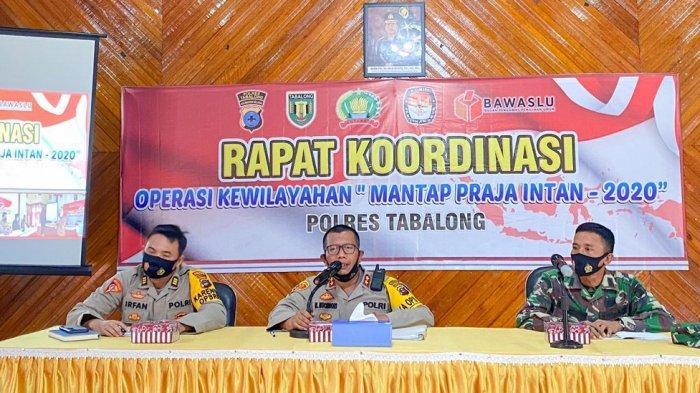Polres Tabalong Gelar Rakor Kesiapan Operasi Mantap Prata Intan Pengamanan Pilkada Kalsel