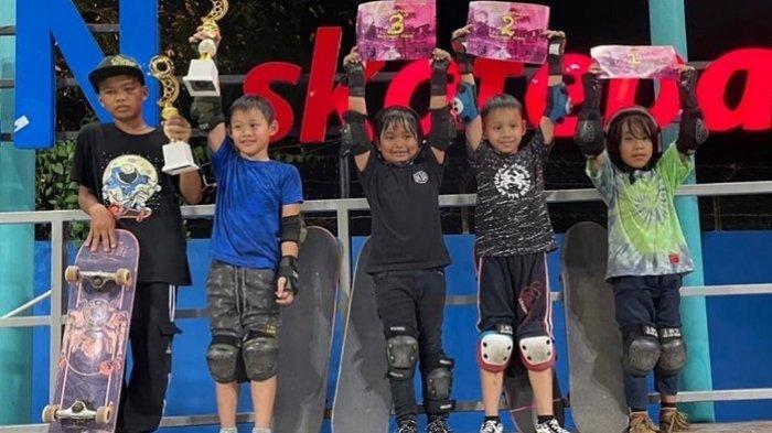 Raih Juara III di Ramadhan Skate Night 2021 di Banjarbaru, Skaters 6 Tahun Bangga Bisa Berprestasi