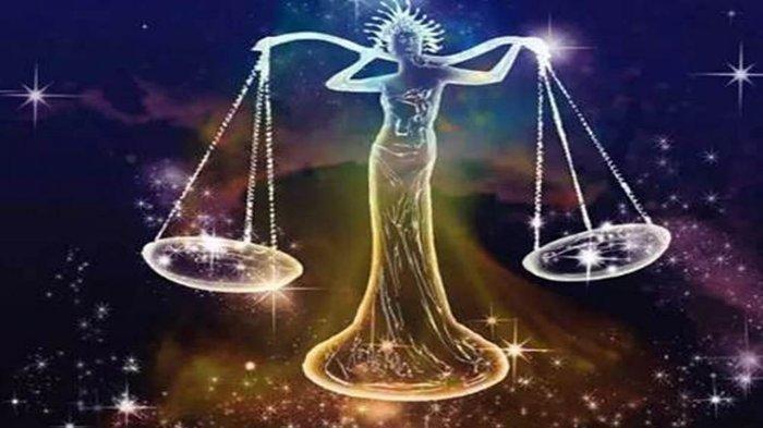 Ilustrasi zodiak Libra.