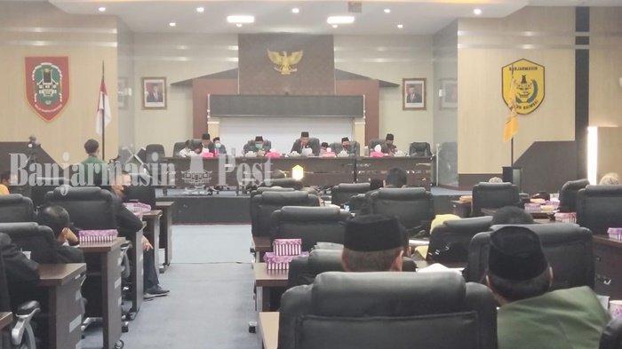 DPRD Banjarmasin Rapat Paripurna Umumkan Wali Kota Terpilih, Paslon Pemenang Tidak Hadir