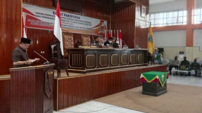 Paripurna DPRD Kotabaru, Bupati Sayed Jafar Sampaikan Pidato RPJMD 2021-2024