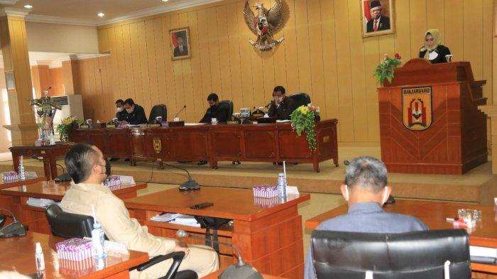 Paripurna DPRD Banjarbaru, Pandangan Fraksi PDIP dan Golkar Terkait Raperda APBD Perubahan 2021