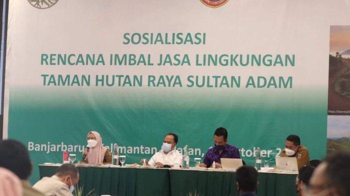 Dishut Kalsel bersama Global Green Growth Institude Kaji Imbal Jasa Lingkungan Tahura Sultan Adam