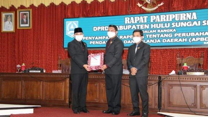 Pemkab HSS Sampaikan Raperda Perubahan APBD2020 ke DPRD HSS, Wabup Jelaskan Alasannya